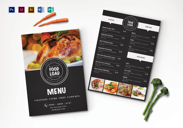 Dinner Party Menu Template  Menu Template Designs
