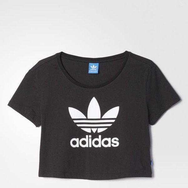 adidas Slim Crop Tee (125 QAR) ❤ liked on Polyvore featuring tops ... 899b53dfa6a9c