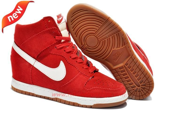 new concept dda28 db479 Where Can I Find Suede Wedge RedWhite Black 80918856-45 Nike Dunk SB Sky Hi