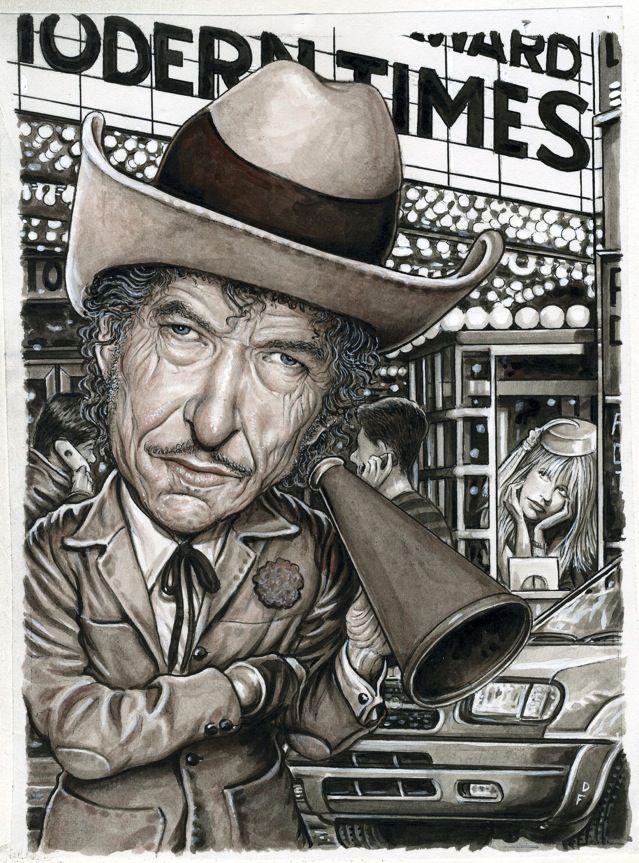 Drew Friedman Bob Dylan Modern Times Bob Dylan Art Bob