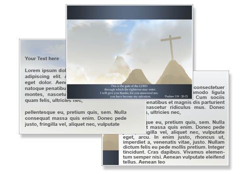 Gate of Lord PowerPoint Templates