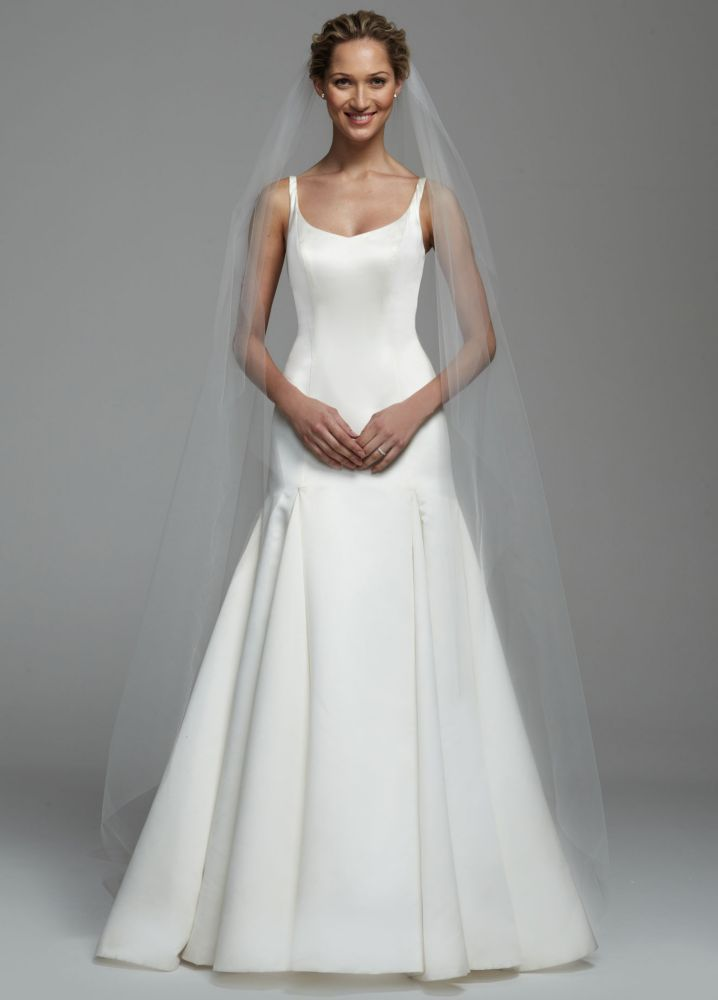 Beaded Cap Cathedral Veil - White