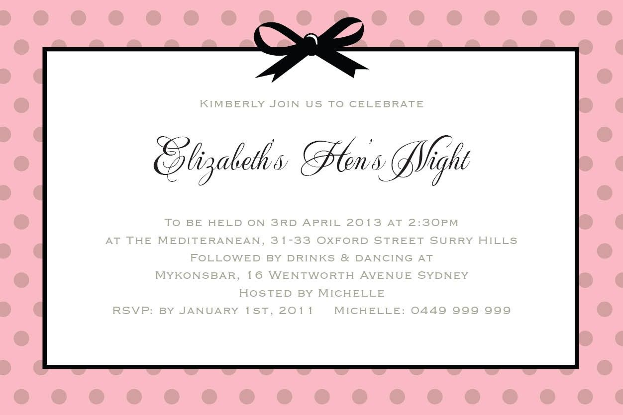 Hen Party Invite Wording Choice Image Invitations Ideas on Funny