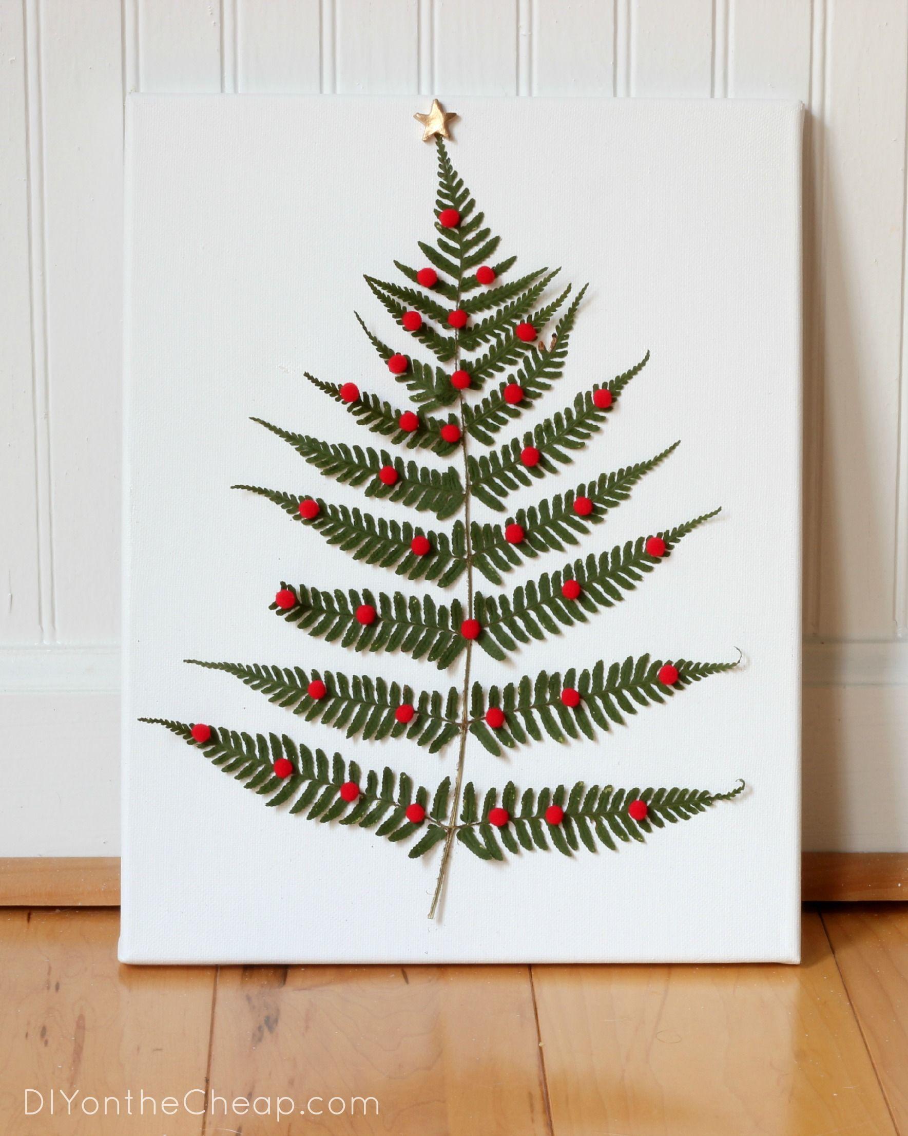How To Make Fern Leaf Christmas Tree Art Tutorial Via Diy On The