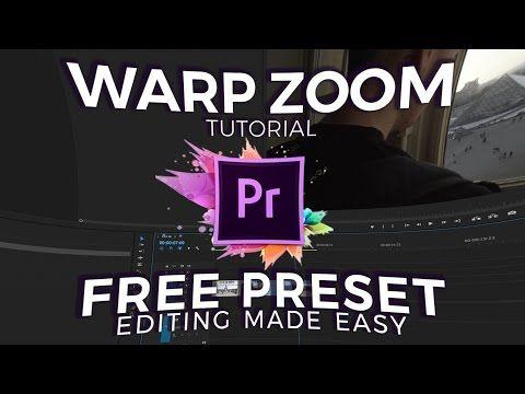 Warp Zoom Transition Tutorial Free Preset Adobe Premiere Pro
