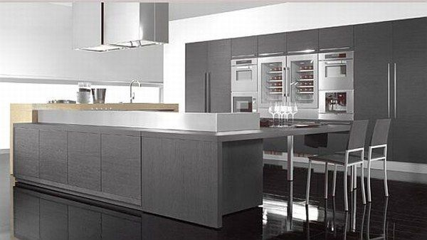 Contemporary Gray Kitchen Cabinets Interesting Ultramodernkitchendesignsfromtecnocucina10 Possible Grey Inspiration