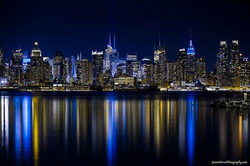 New York Sky Line At Night