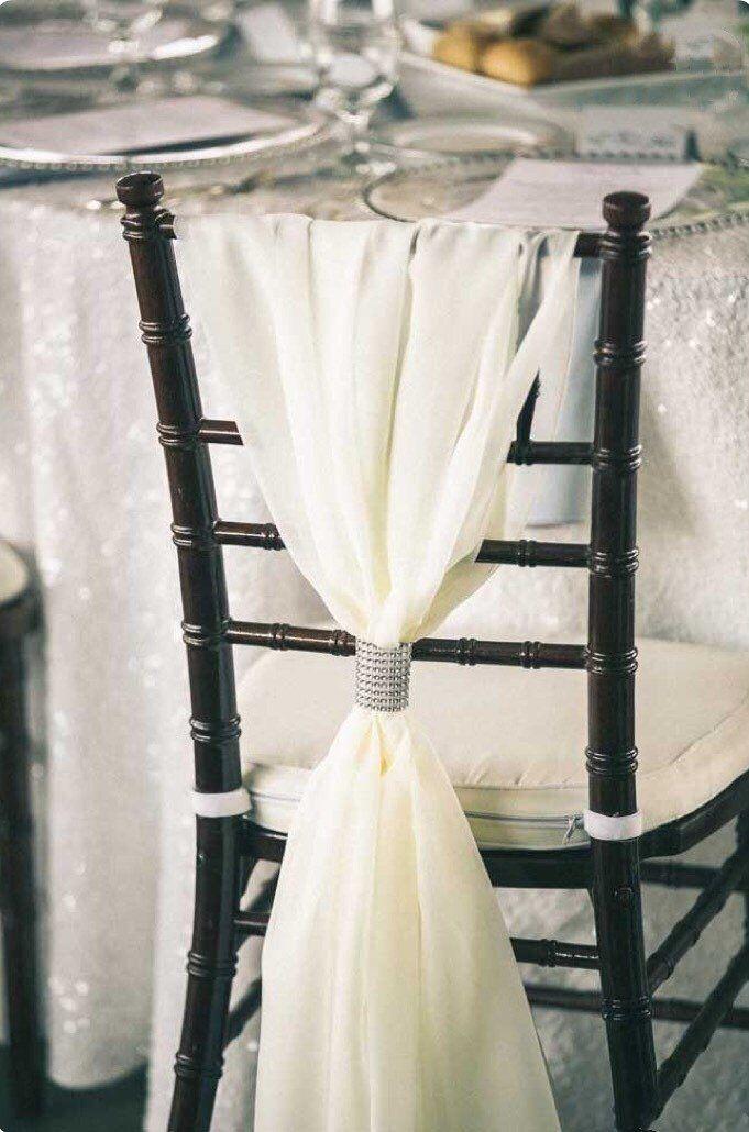 Romantic Chiffon Chiavari Chair Sash Chair Cover Wedding