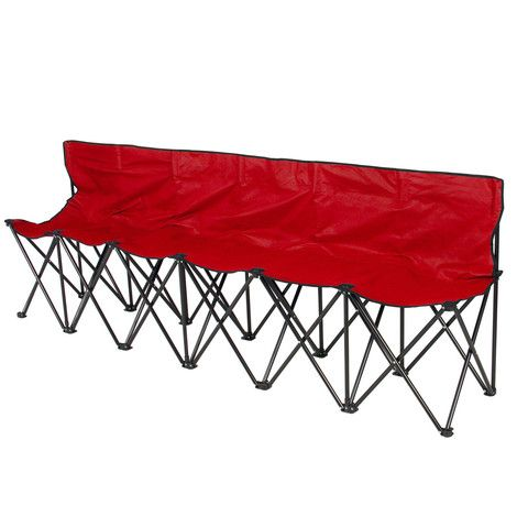 Sensational 6 Seat Folding Bench Sports Sideline Chairs Portable With Dailytribune Chair Design For Home Dailytribuneorg