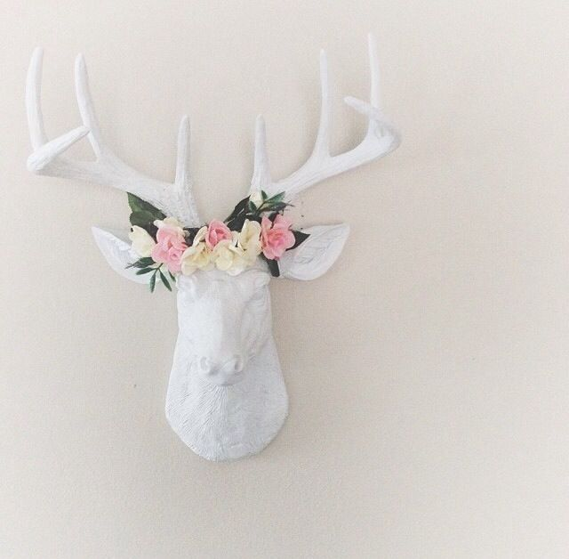 The MINI Templeton, Small White Deer Head Wall Mount | Faux ...
