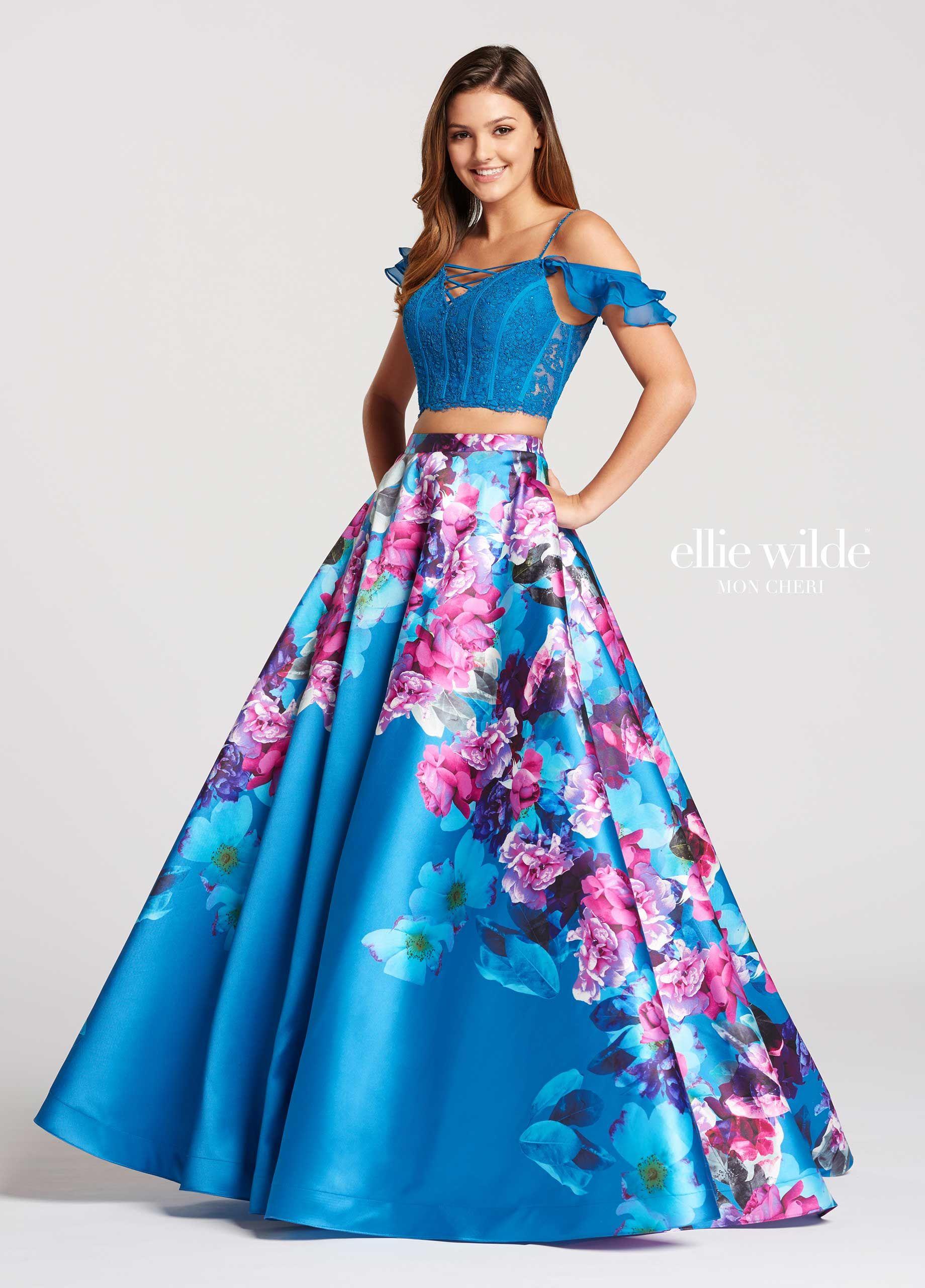 Piece aline lace u mikado prom dress with pockets ew