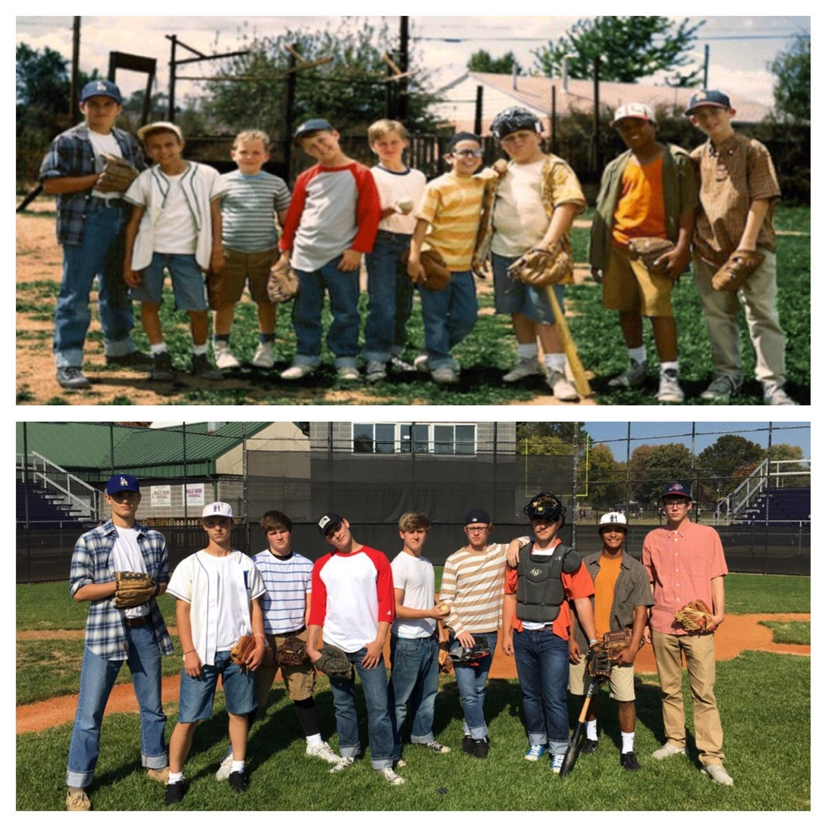 My friends and I went as the kids from The Sandlot for costume day at our
