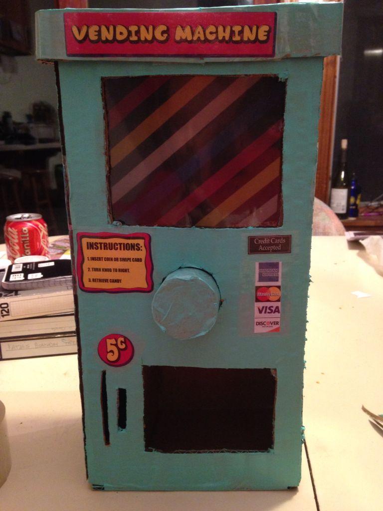 Vending Machine Made From A Cardboard Box Craft Ideas