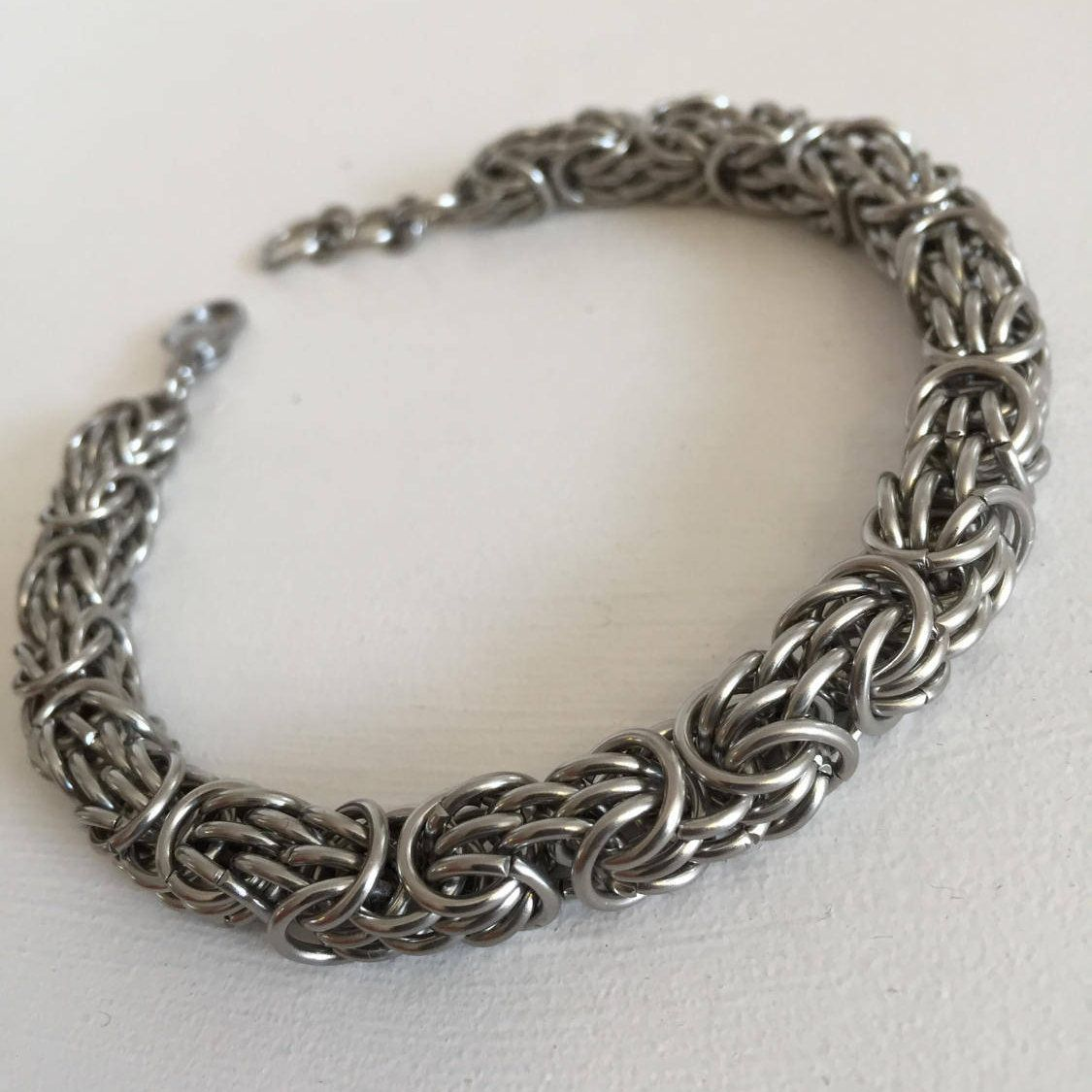 Large steel bracelet hipster mens jewelry gift idea menus chunky