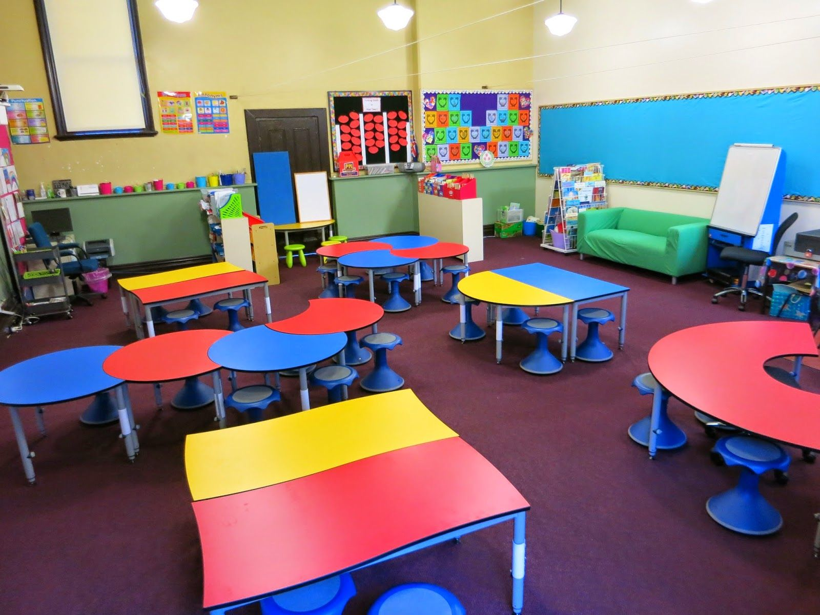 Modern Classroom Arrangement ~ Our year classroom changed into a st century learning