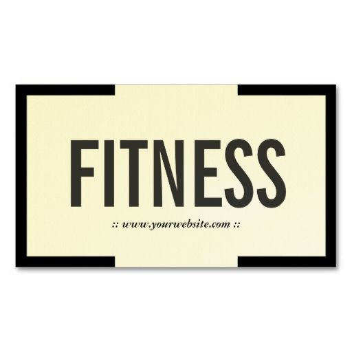 Bold black border fitness business card business cards business bold black border fitness business card reheart Image collections