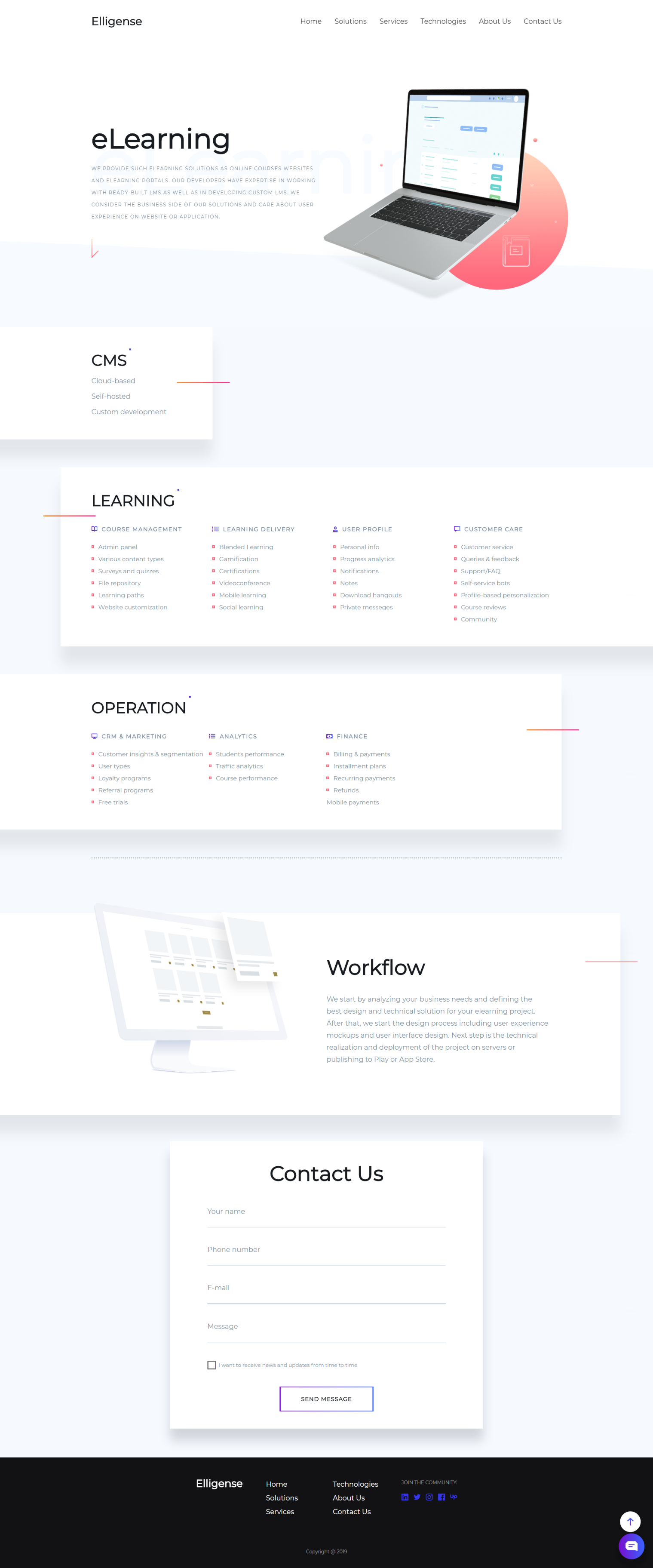 Modern Trendy And Fresh Elearning Solutions Page Web Design Inspiration Material Design Website Corporate Website Design Web Design Quotes