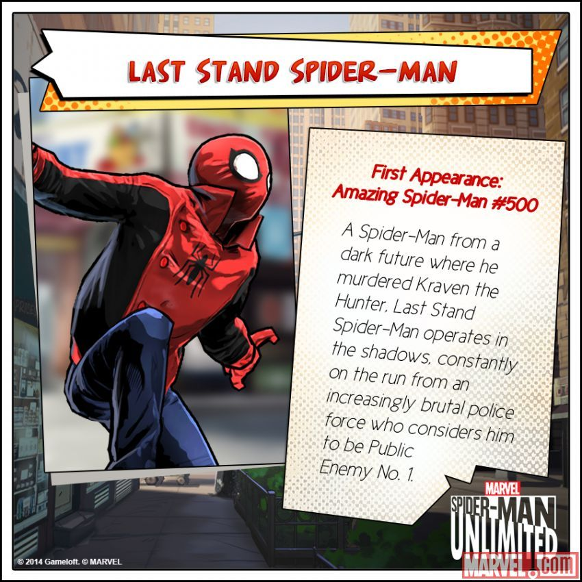 Last Stand SpiderMan in the SpiderMan Unlimited mobile