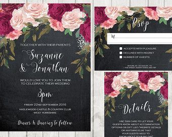 shop for digital wedding invitations on etsy the place to express your creativity through the buying and selling of handmade and vintage goods - Digital Wedding Invitations