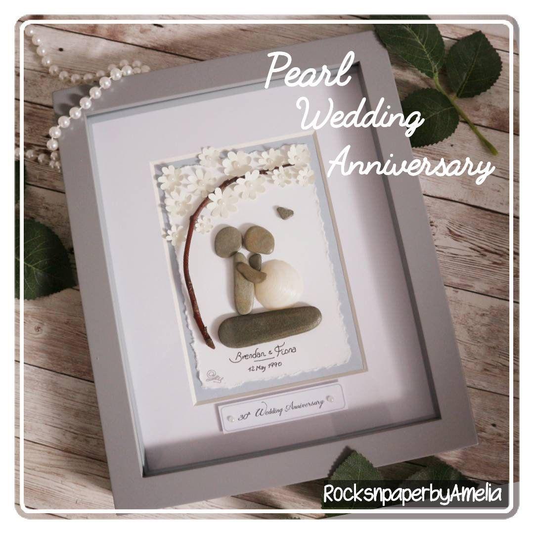 Personalised 30th Wedding Anniversary present, PEARL