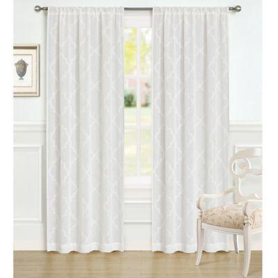 Laura Ashley 84 Inch Windsor Window Curtain Panel Pair Panel