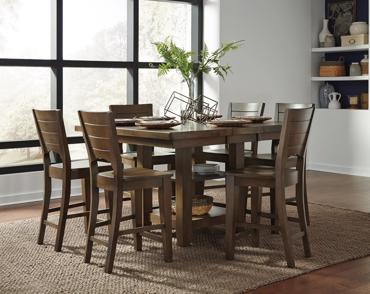 John Thomas Furniture Canyon 7 Piece Extension Pub