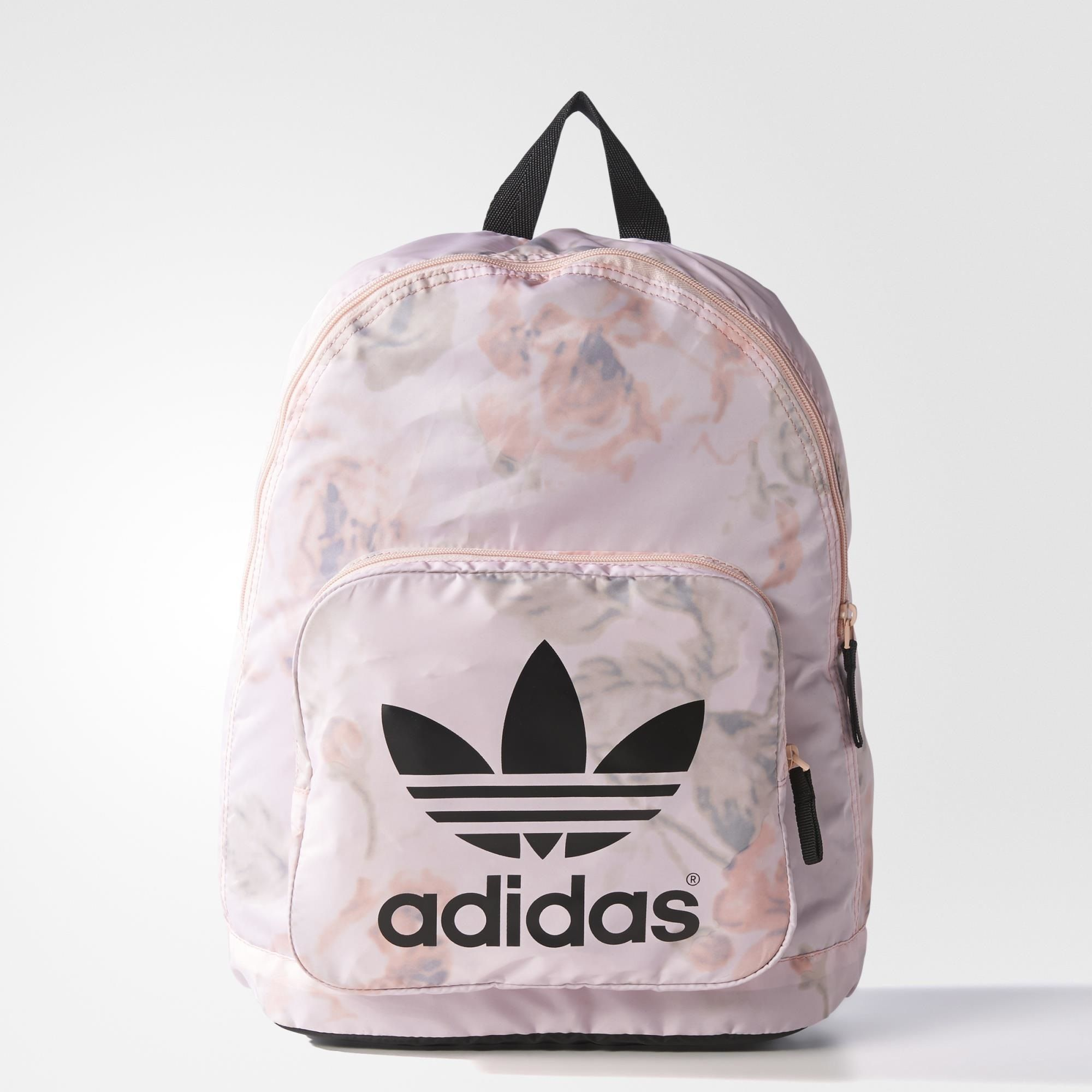 mochila adidas color rosa pastel throw it in the bag