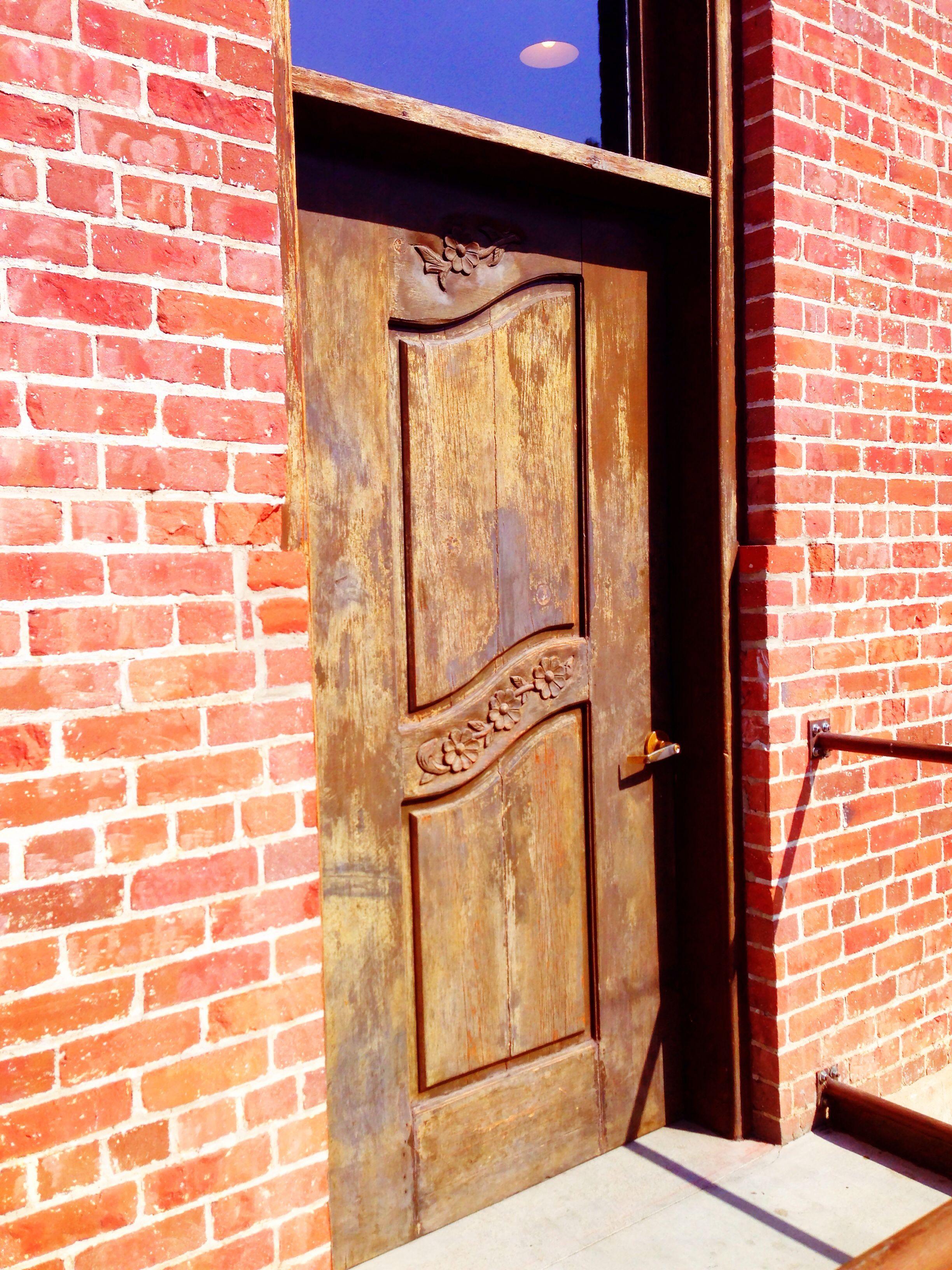 Downtown Pomona, CA, Art Walk area - wooden door