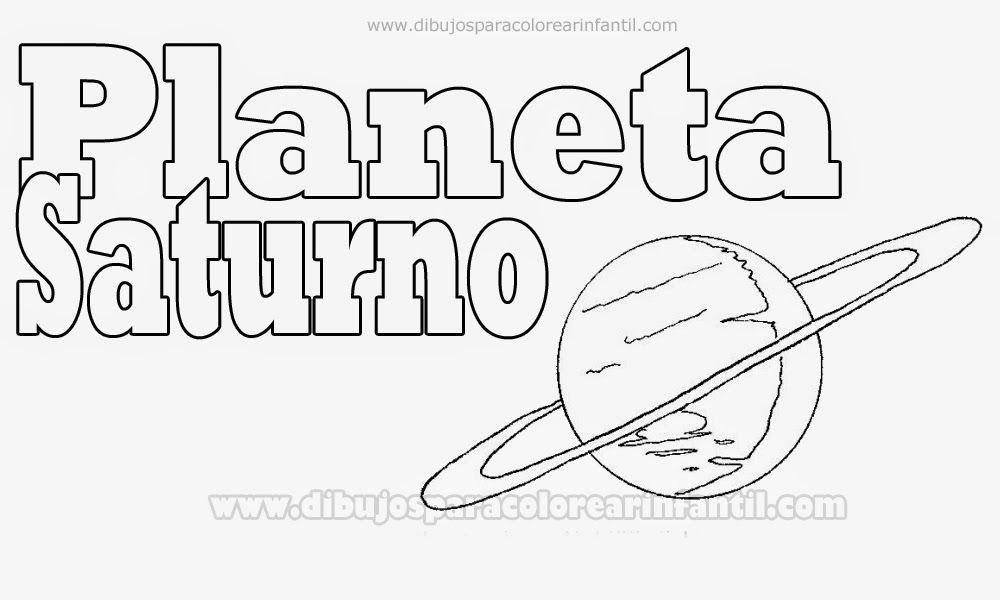 Planetas para colorear: Saturno para pintar ~ Dibujos para ...