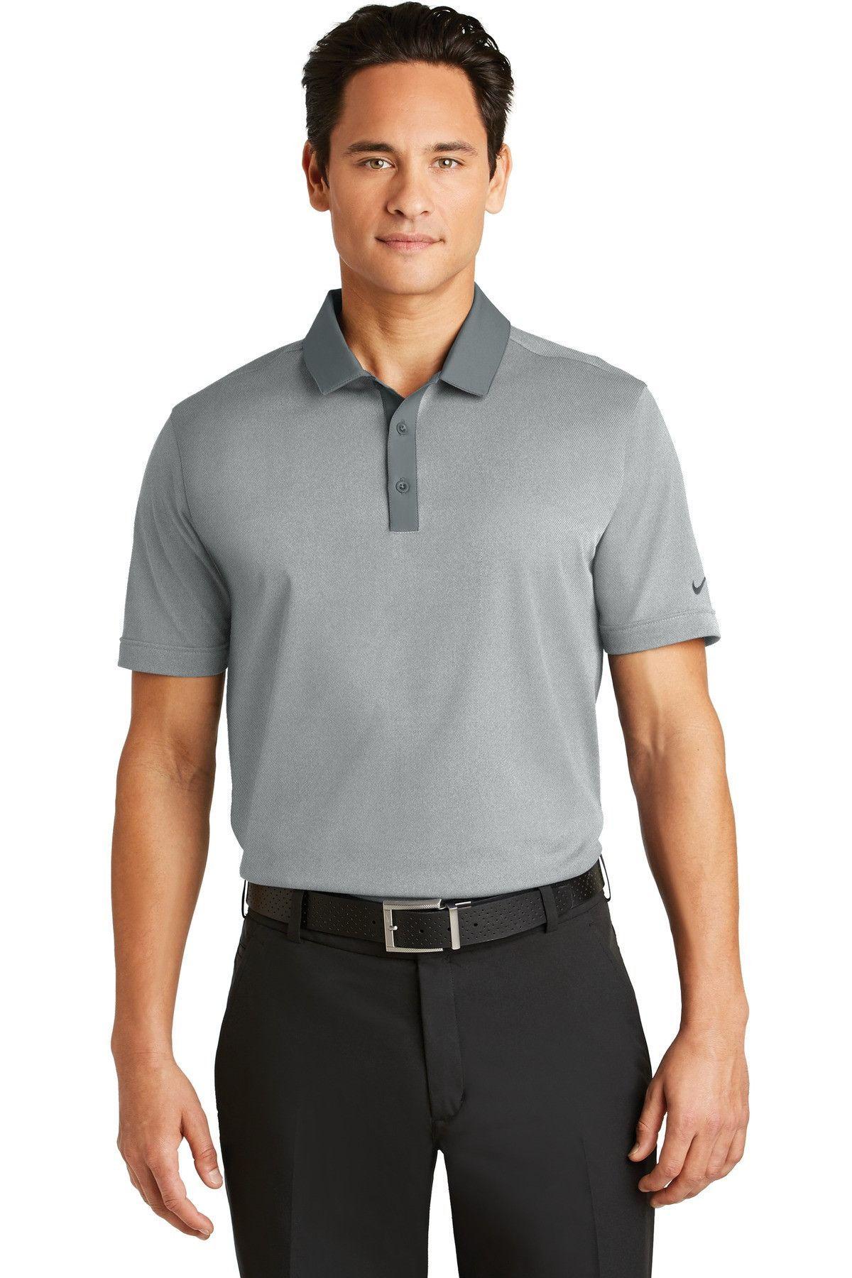 Nike Golf Dri Fit Heather Pique Modern Fit Polo Grey Heather 779798