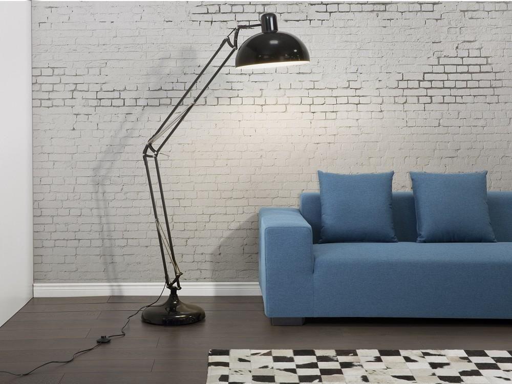 Modern golvlampa svart - läslampa - belysning - PARANA