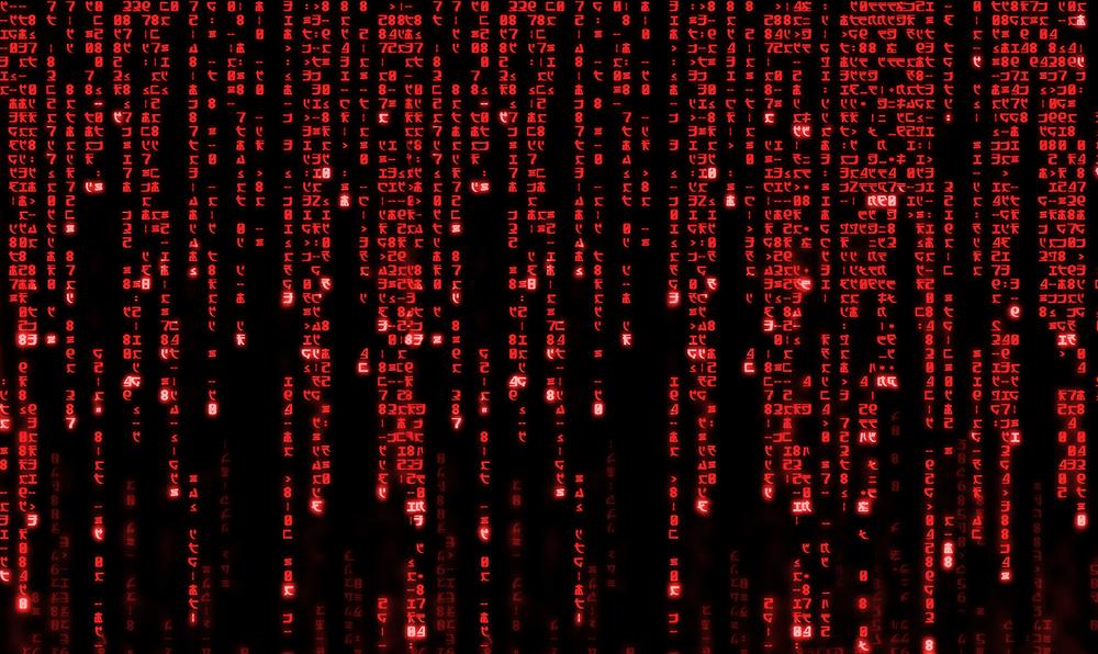 Red Matrix Code Binary Digital Art Print By Alex Gheorghe X Small Digital Art Prints Code Art Digital Art