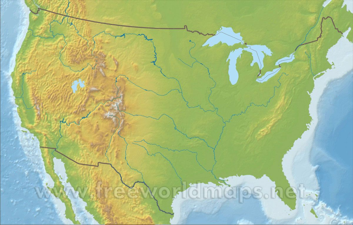 Pin by brad faber on food pinterest free printable united physical map of the united states illustrating the geographical features of the united states information on topography water bodies elevation and other gumiabroncs Gallery