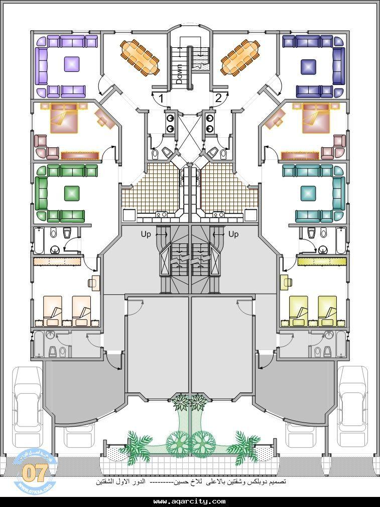 تصاميم مخططات فلل دبلكس دوبلكس دليل شركات الهندسة المعمارية و المدنية و مقاولات عامة و استشارات هندسية عقارية و مخططات و Plan Design House Plans Floor Plans