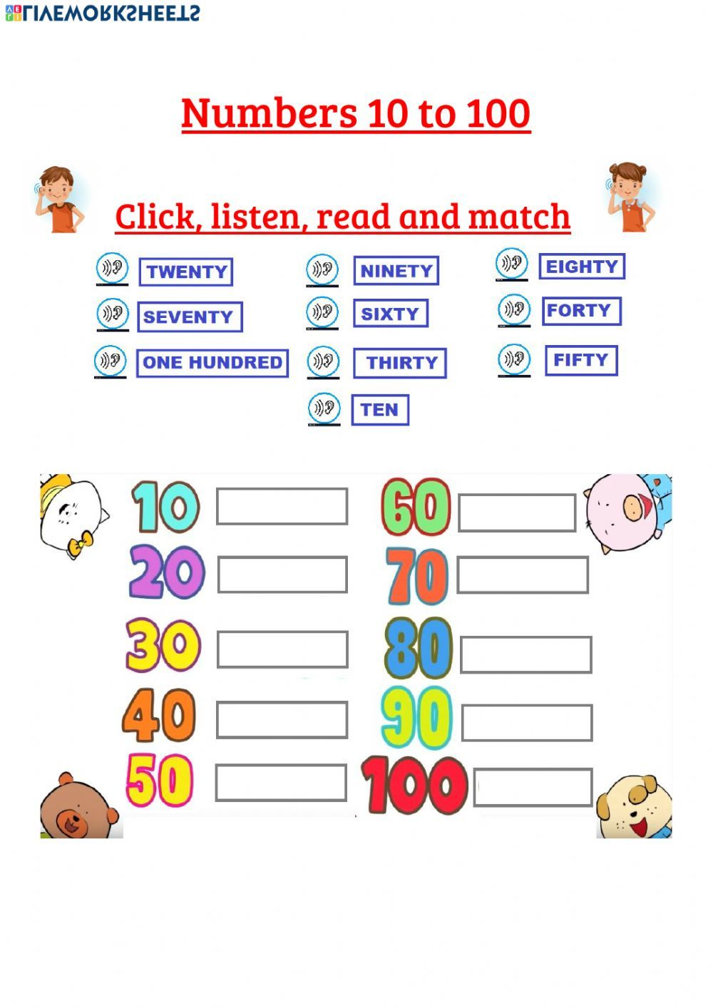 Numbers online worksheet. You can do the exercises online