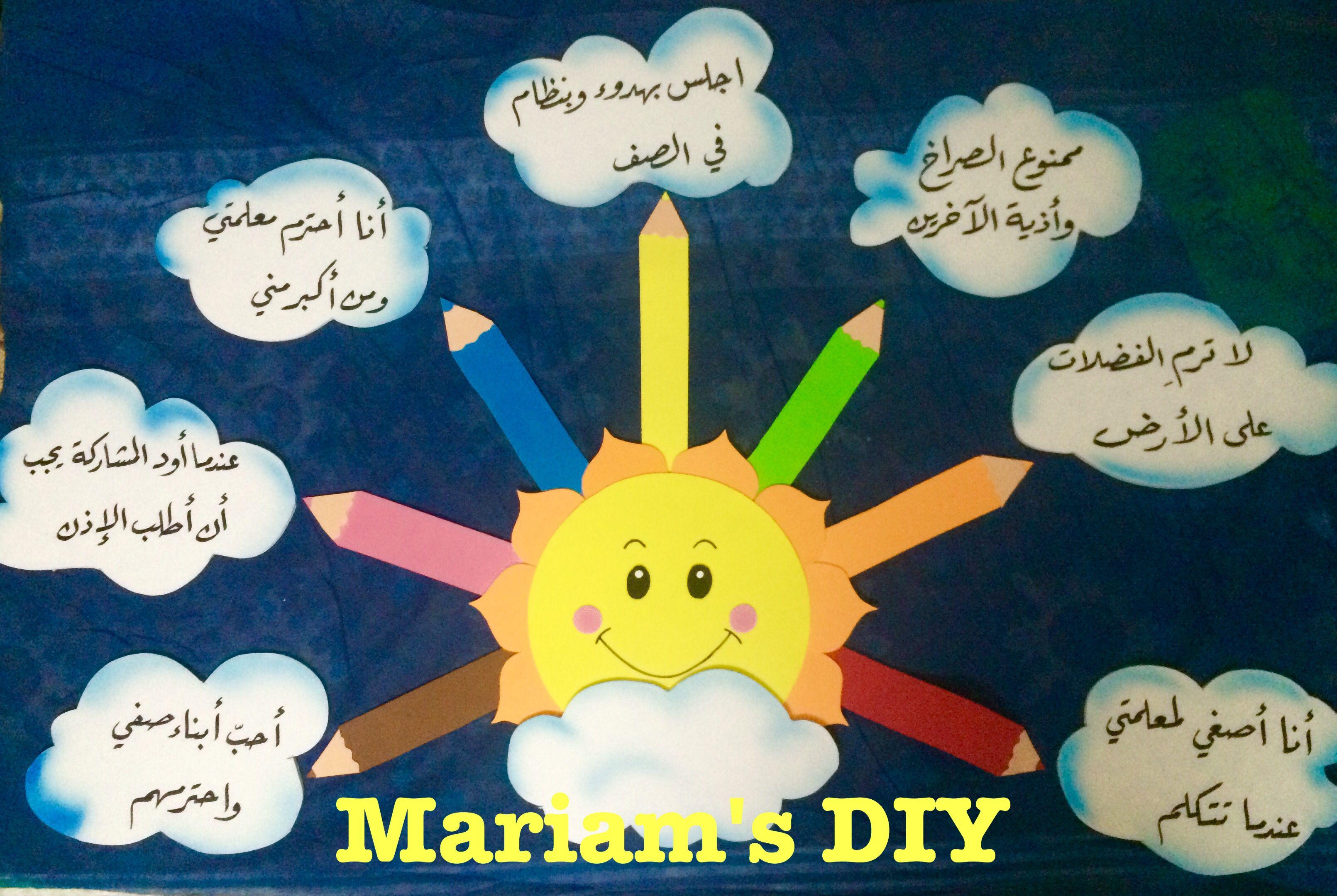 القوانين الصفية Alphabet Preschool Arabic Alphabet For Kids Islamic Kids Activities