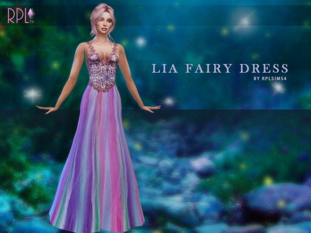 TS4 - LIA FAIRY DRESS BY ME | Sims 4 - Dresses CC | Pinterest ...
