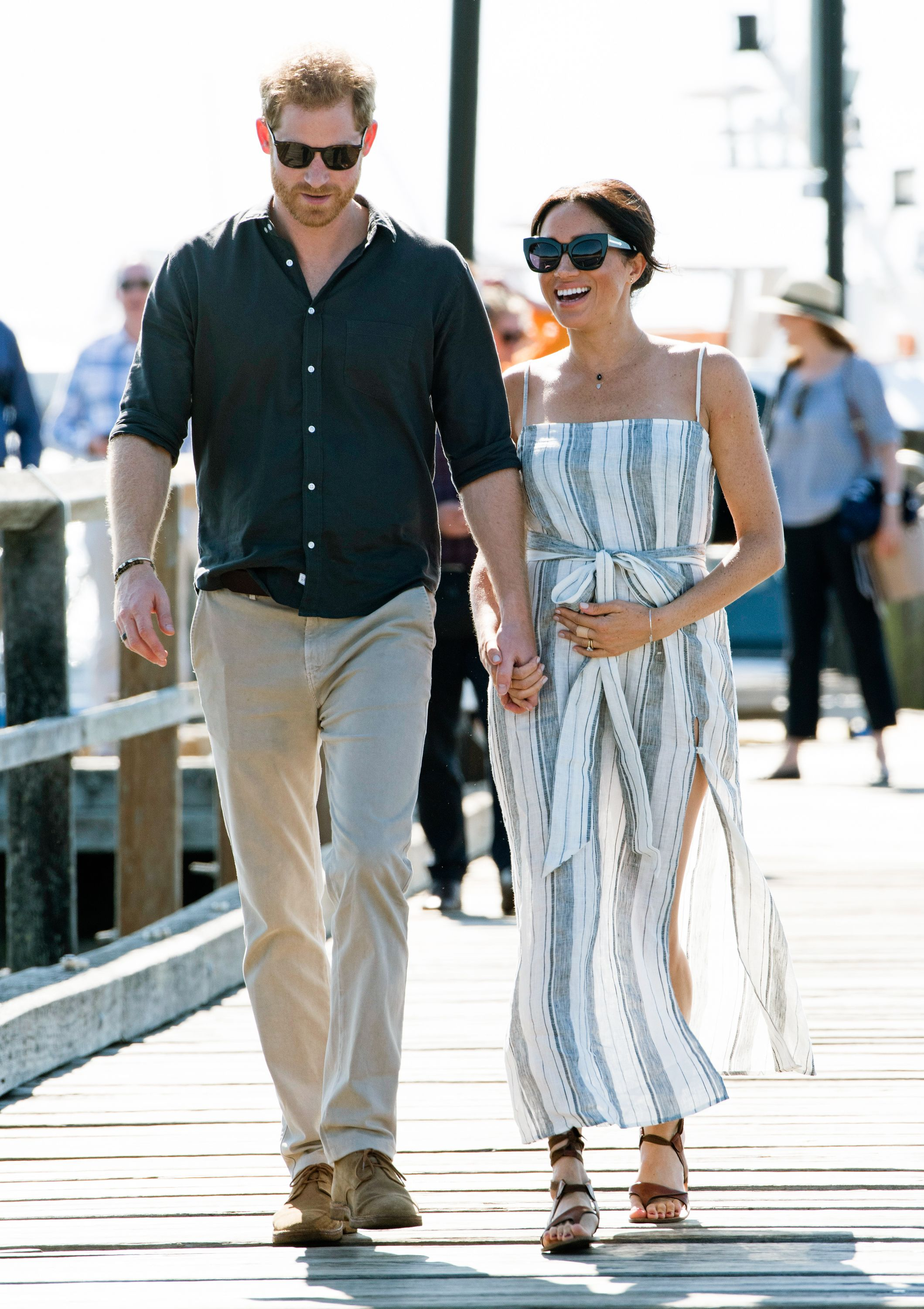 bb6460292 #MeghanMarkle broke royal protocol in favor of this affordable #reformation  dress. #royals #royalfamily #royalbaby #duchessofsussex #meghanmarklestyle