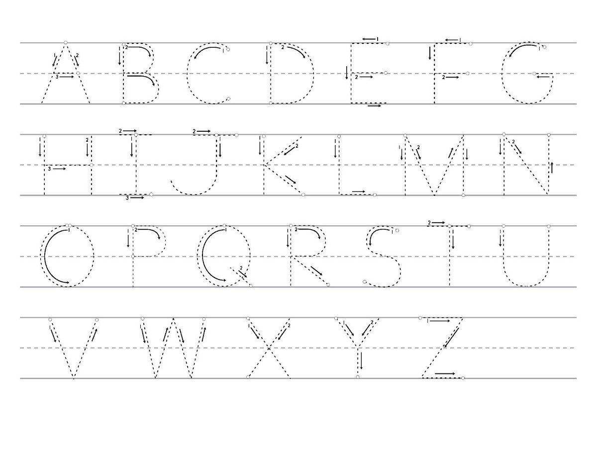 Alphabet Tracing For Kids A Z