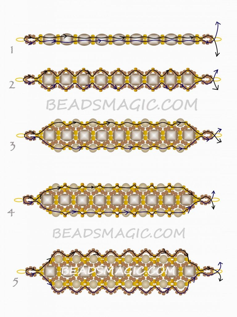 beaded bracelets patterns and instructions