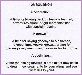 A mothers graduation speech for son