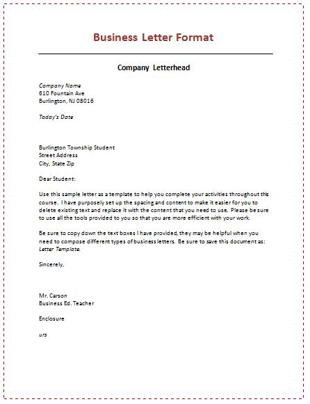 Business Letter Format Business Letter Business Letter Example Business Letter Sample