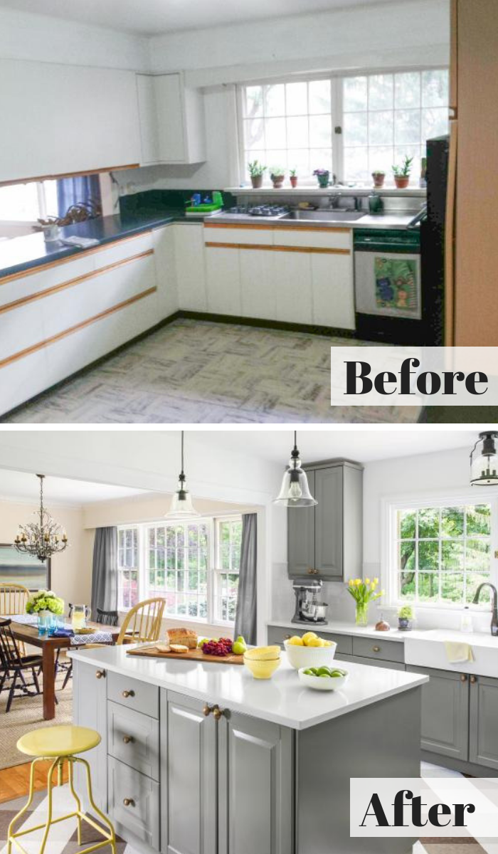 Kitchen Before And After Beauty On A Budget Kitchen Remodel
