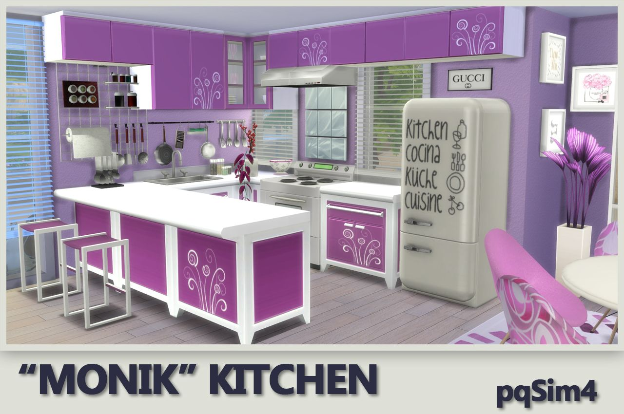 Muebles Sims 4 Kitchen Quotmonik Quot Sims 4 Custom Content Pqsim4 Sims 4