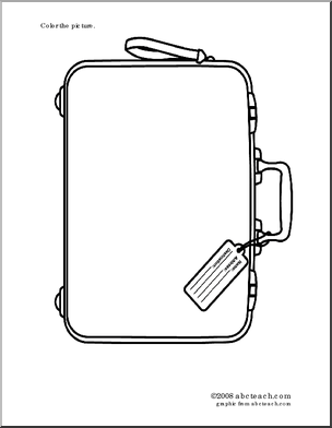 Printable Suitcase Coloring Page Coloring Pages Color Suitcase