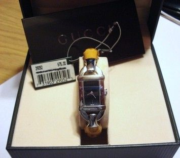 73f91f77bc3 Gucci Stainless Steel Bamboo Watch Model 6800L with Tags and in Original  Box Retail    675. Get the lowest price on Gucci Stainless Steel Bamboo  Watch Model ...