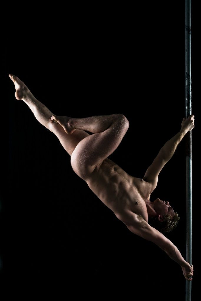 Atheletic Man In A Cool Posture  Sexy Men  Pole Art -7889