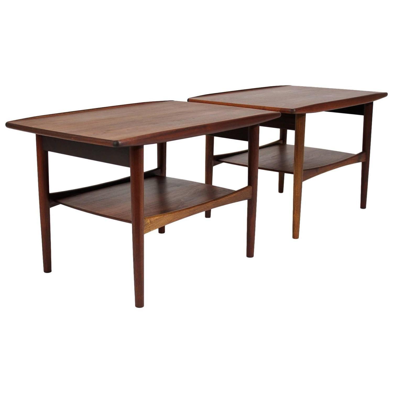 Moreddi Denmark Oiled Teak Pair of End Tables