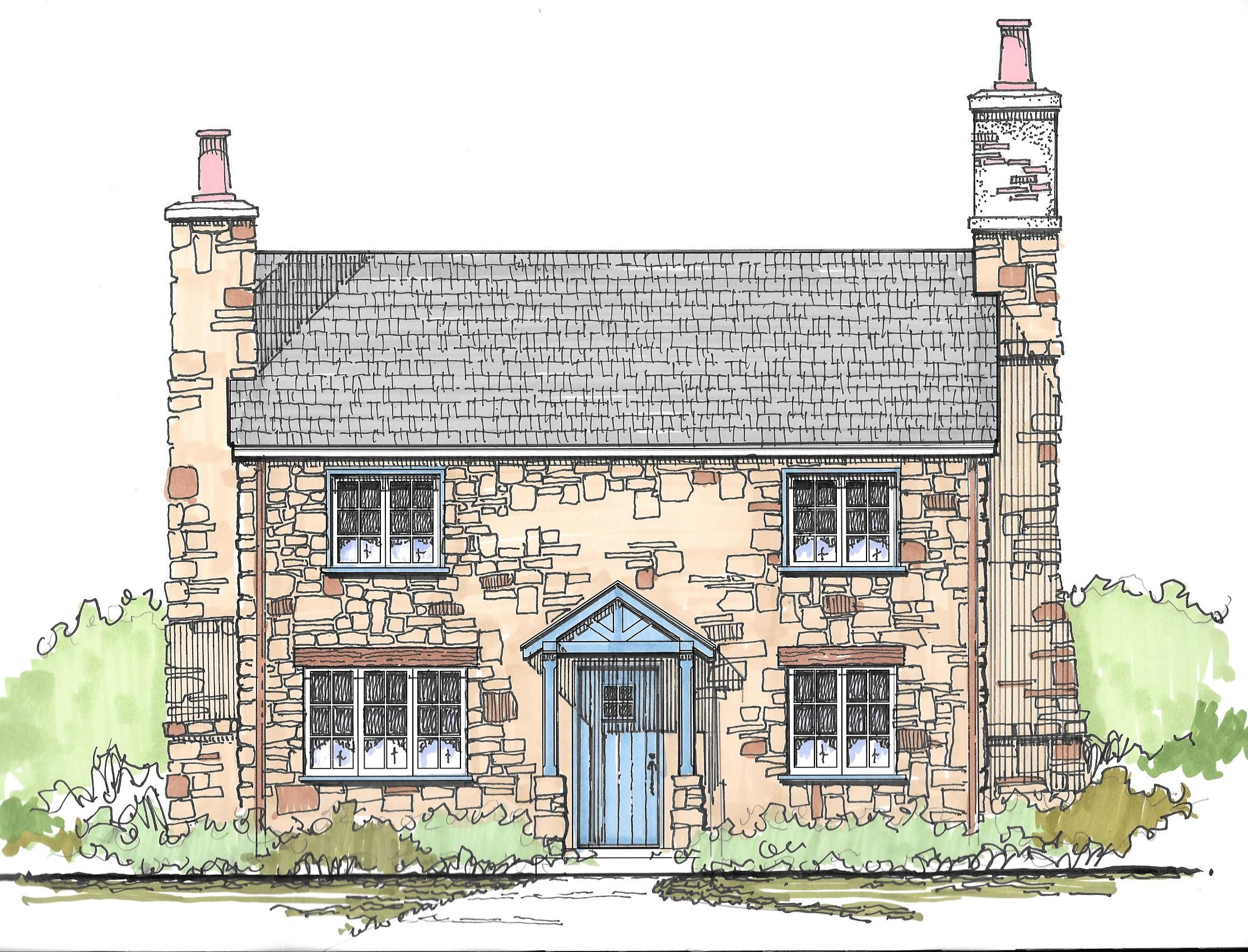 Love Love Love This With One Chimney Stack It Would Be Amazing A New English Country Cottag Cottage Style House Plans Cottage House Plans Stone House Plans