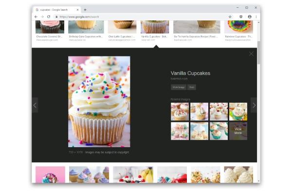 أظن أن جوجل لا تريد منك استخدام بحث الصور الخاص بها لأن واجهة المستخدم الجديدة لميزة البحث عن الصور Google Image Search Vanilla Cupcakes Computer Programming